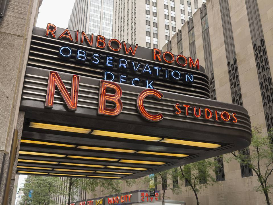 The Famous NBC Studios at the Rockefeller Center, Manhattan, New York City, New York State, USA