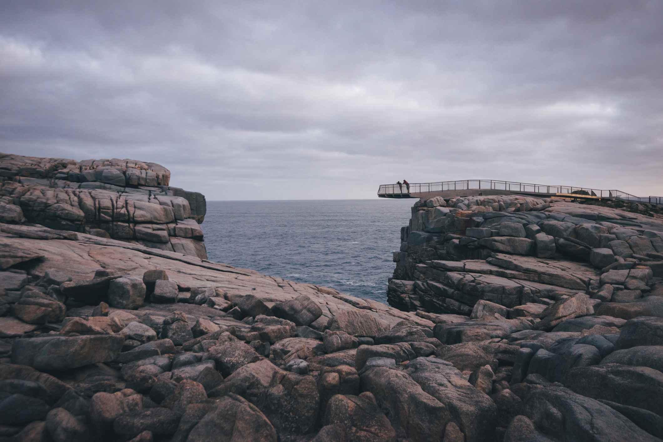 La plataforma costera Gap cerca de Albany, Australia occidental