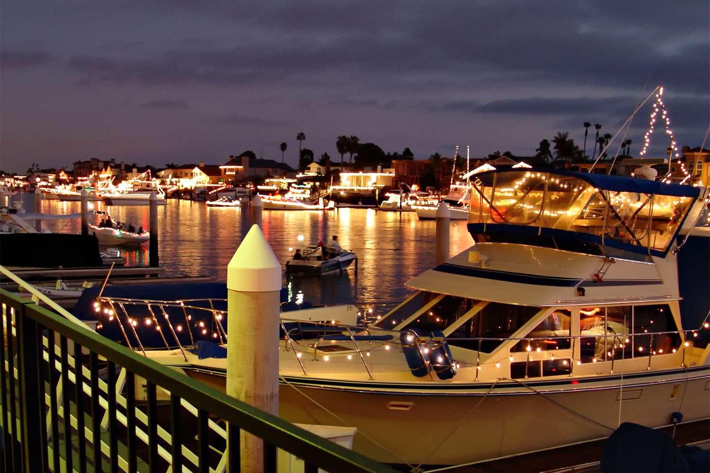 Holiday Lights in Huntington Beach