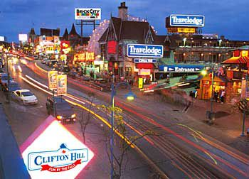 Travelodge is just one of many hotels located in Clifton Hills, Niagara Falls, Canada.