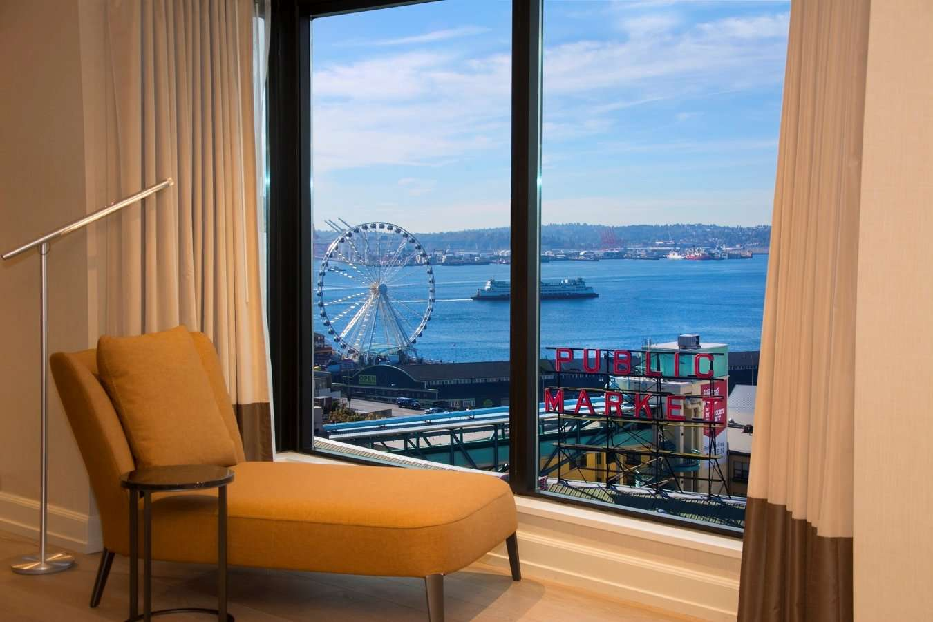 Seattle water view suite at the Inn at the Market