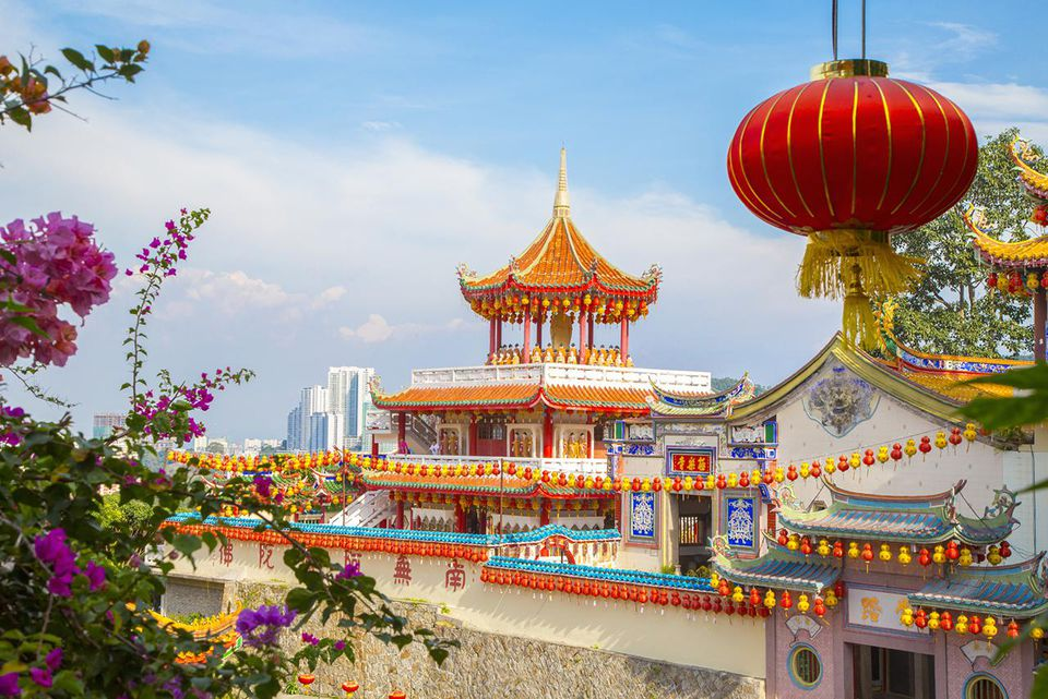 Kek Lok Si Temple decorated for Chinese New Year