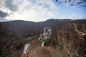 View from above of Burg Eltz Castle
