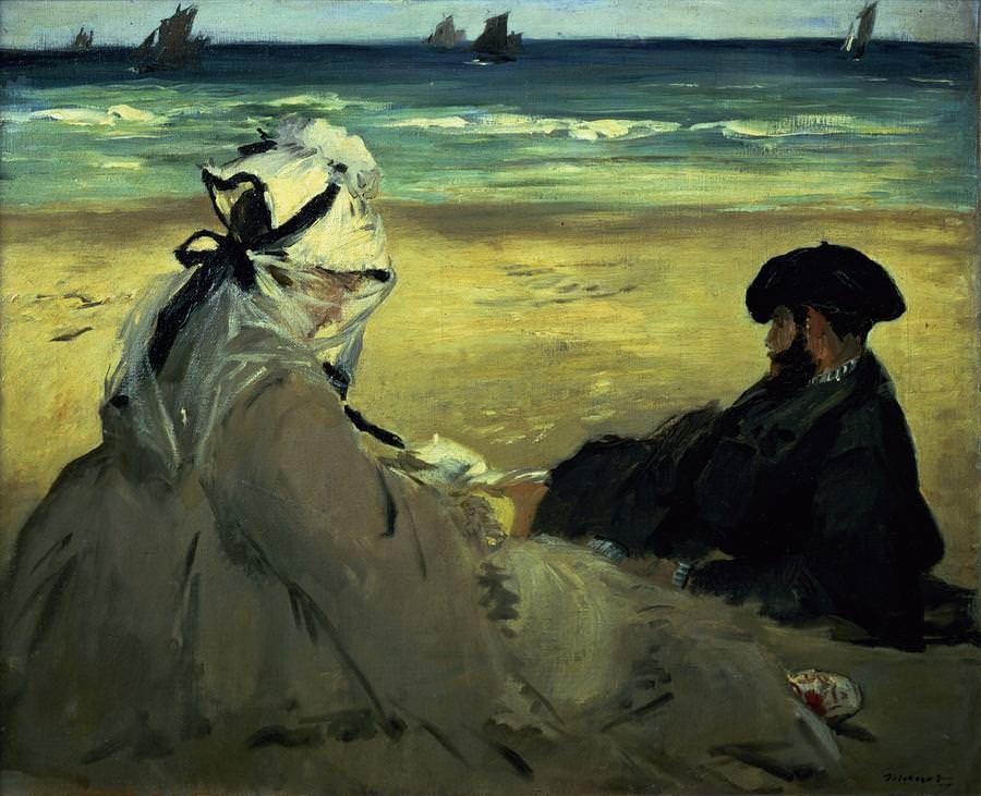 Edouard Manet, On the Beach, 1873. Óleo sobre lienzo. Musee d'Orsay, París.