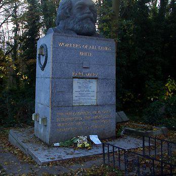 Karl Marx Memorial, East Cemetery, Highgate Cemetery, London