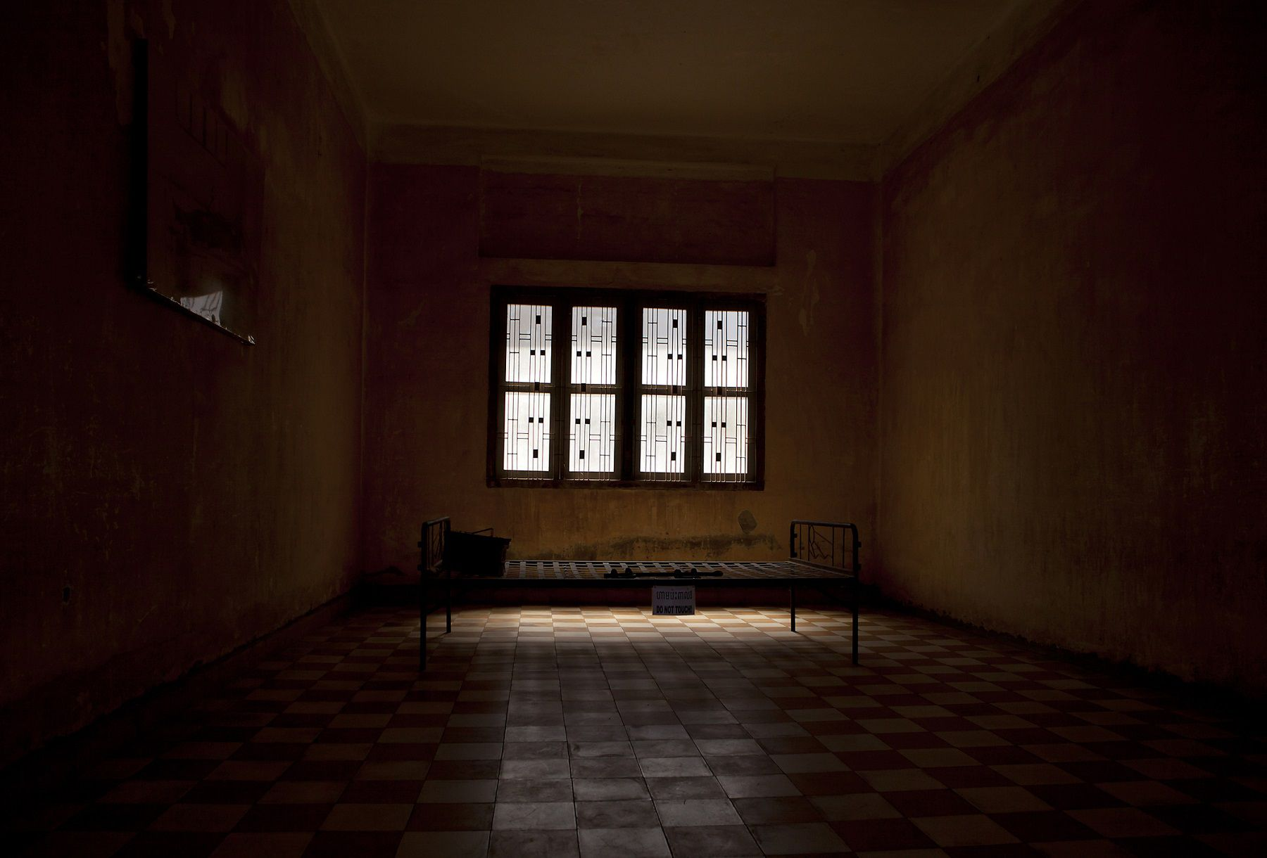 Room in Tuol Sleng, Phnom Penh, Cambodia