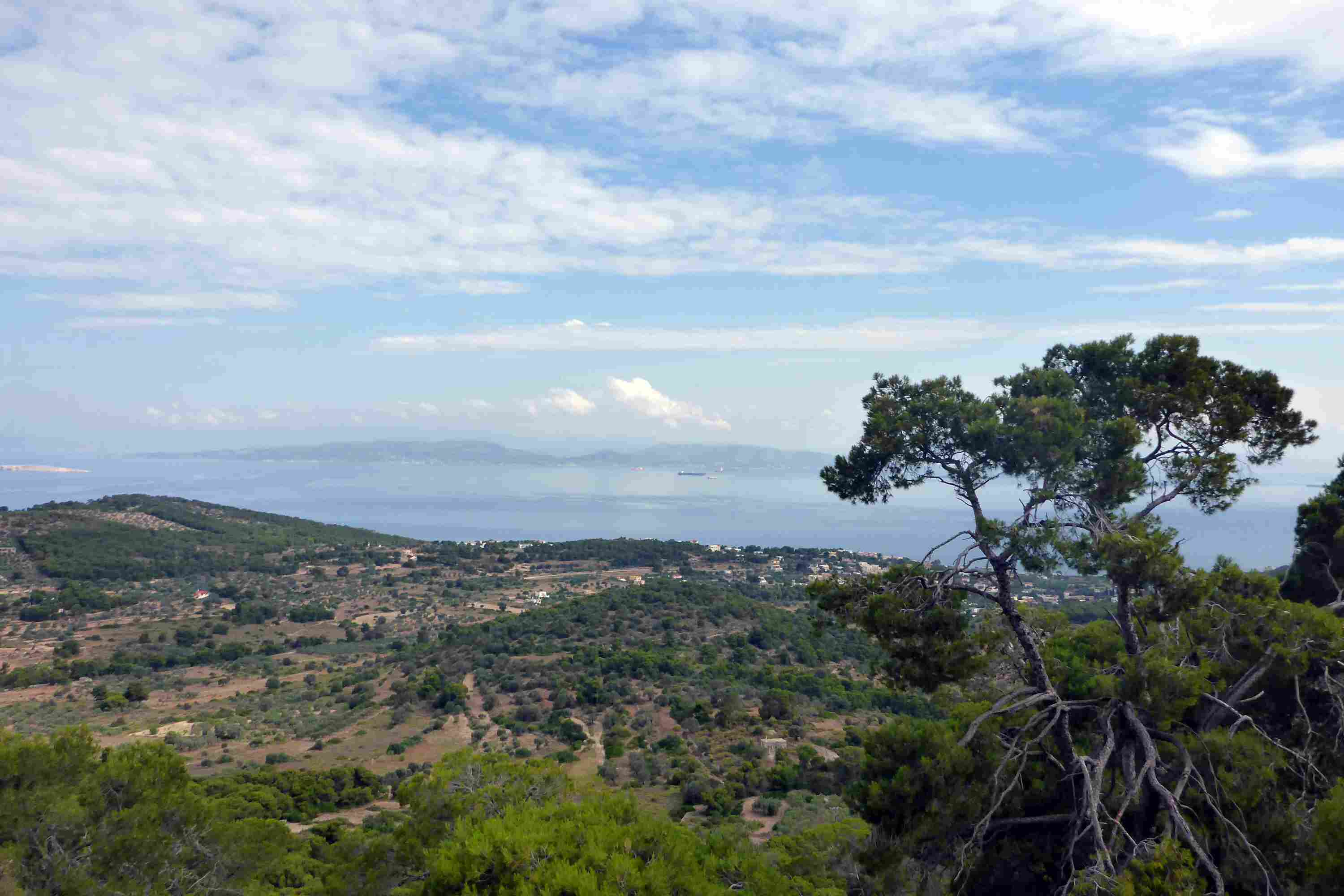 View of Aegina Island from the Temple of Aphaia