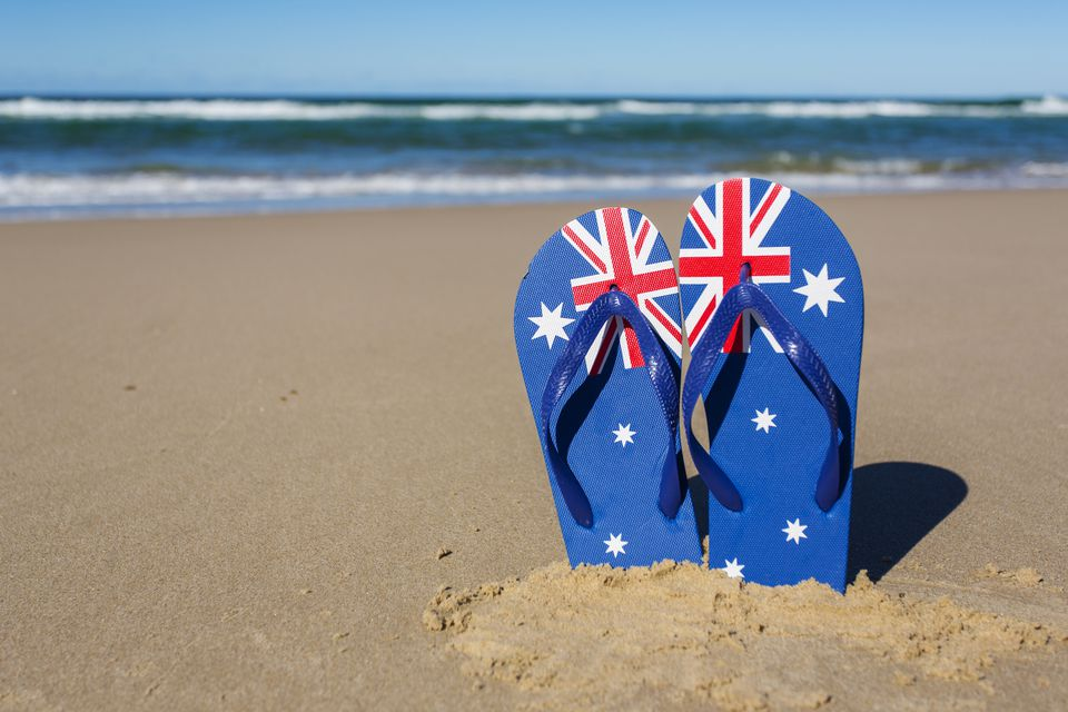 Australian Flag Beach Thongs