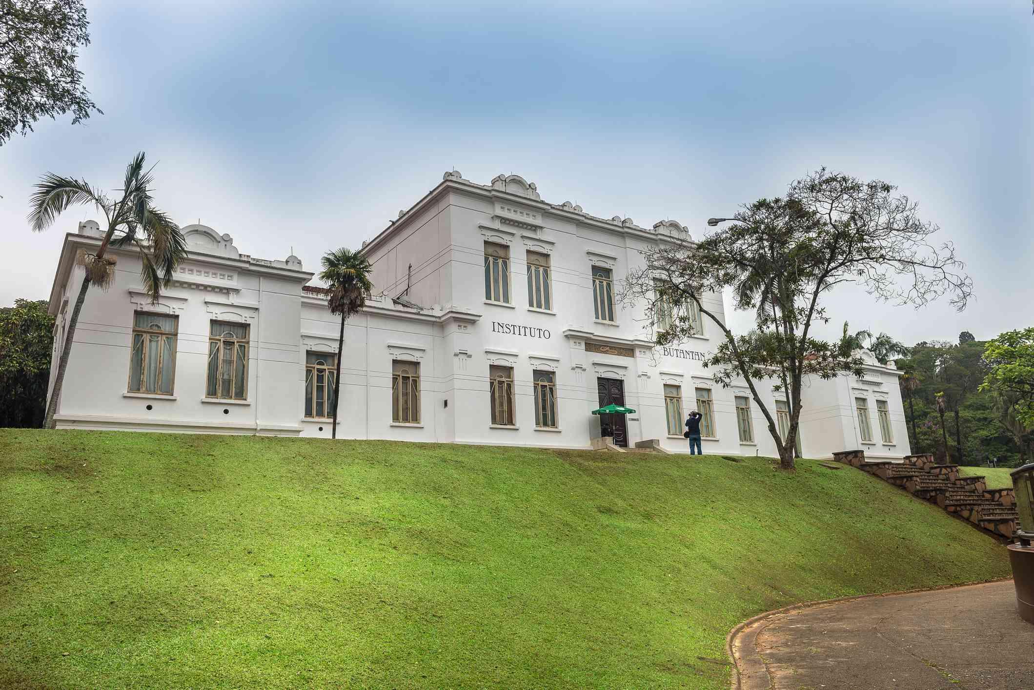 Facade of Vital Brazil Building in Butantan Institute