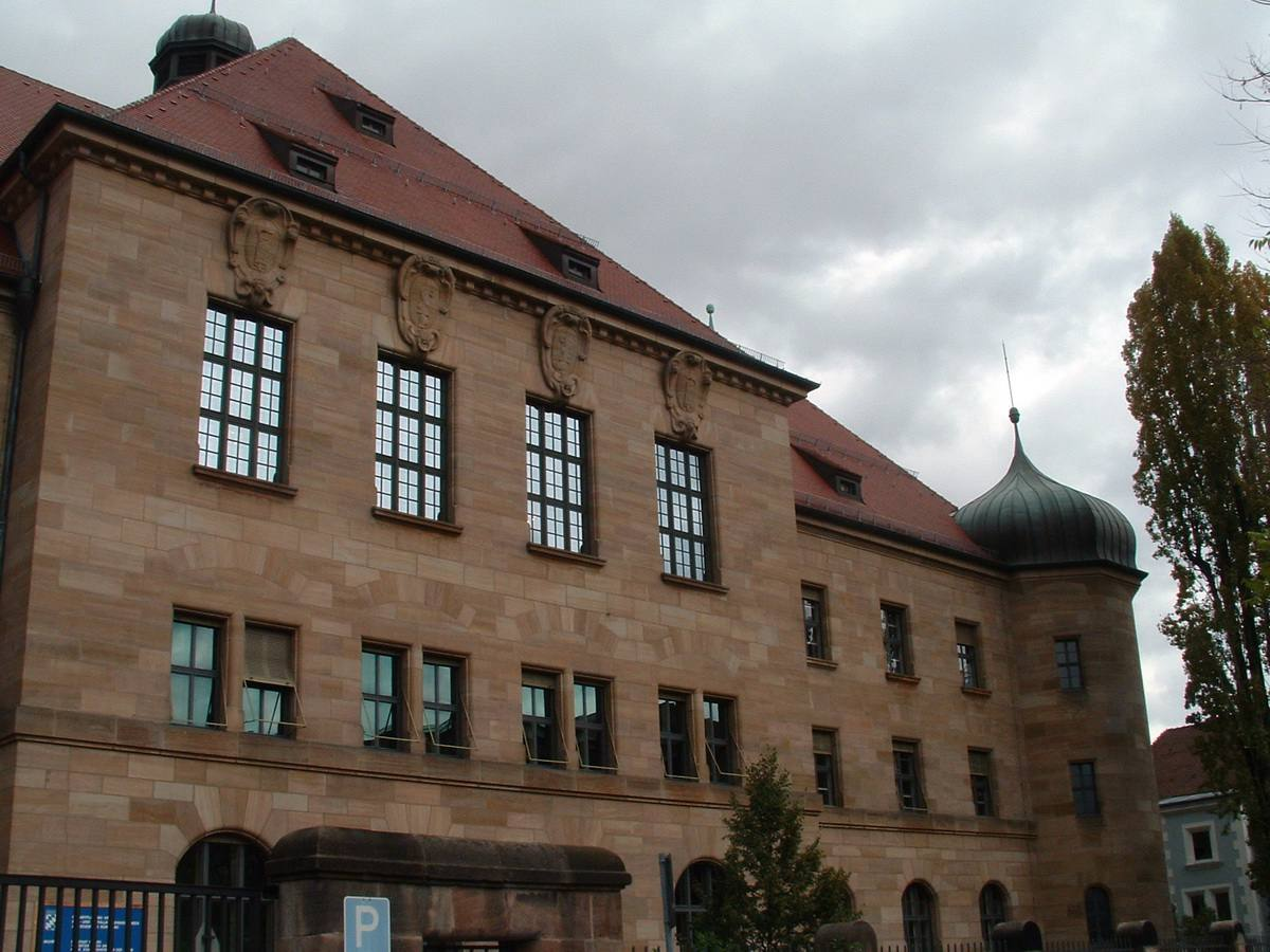 Outside of Nuremberg Nazi Trials Courthouse in Nuremberg, Germany