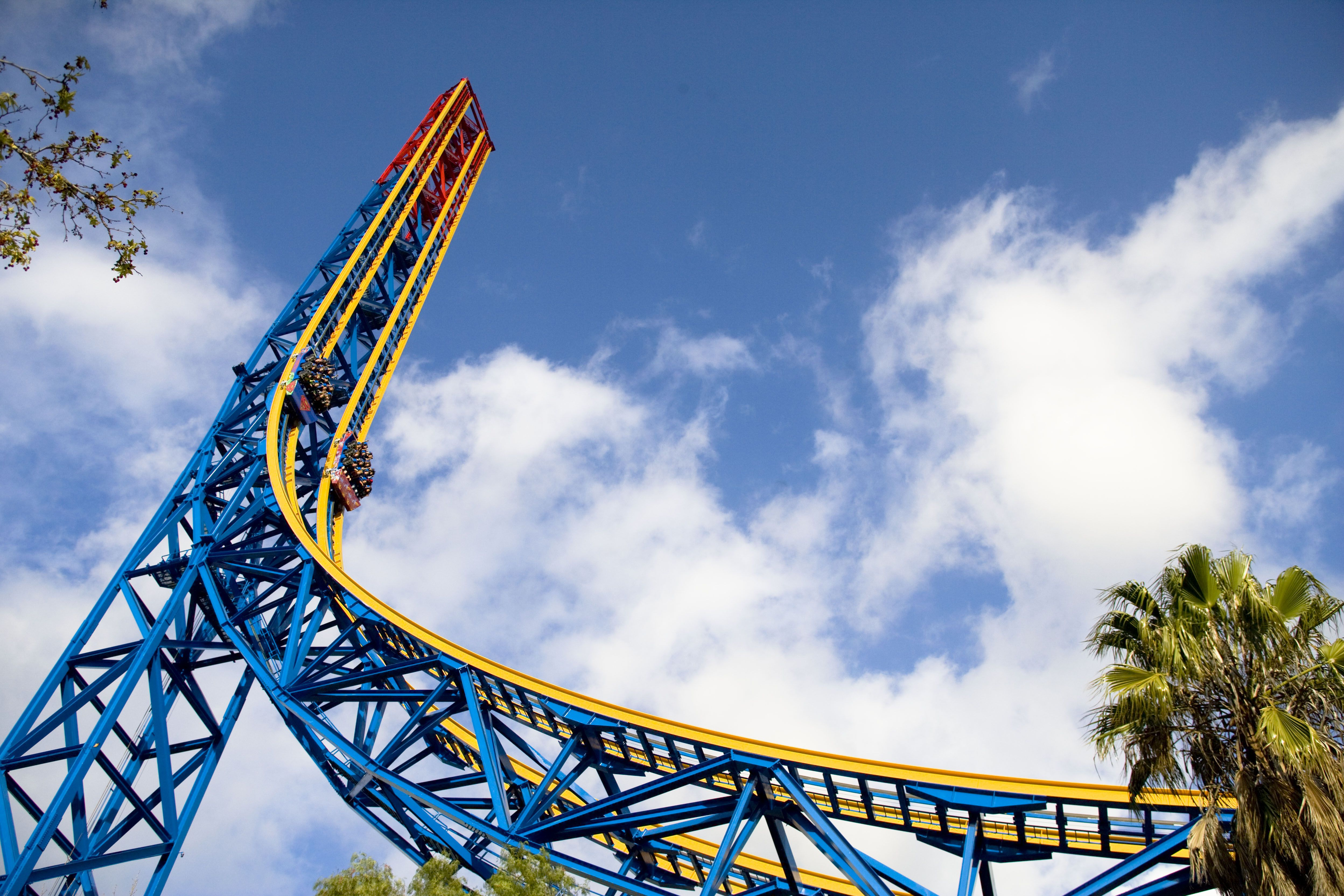 Superman: Escape from Krypton coaster at Six Flags Magic Mountain.