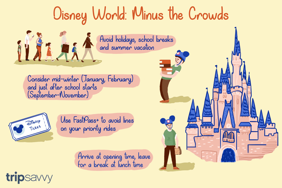 drawn guide to Disney without crowds