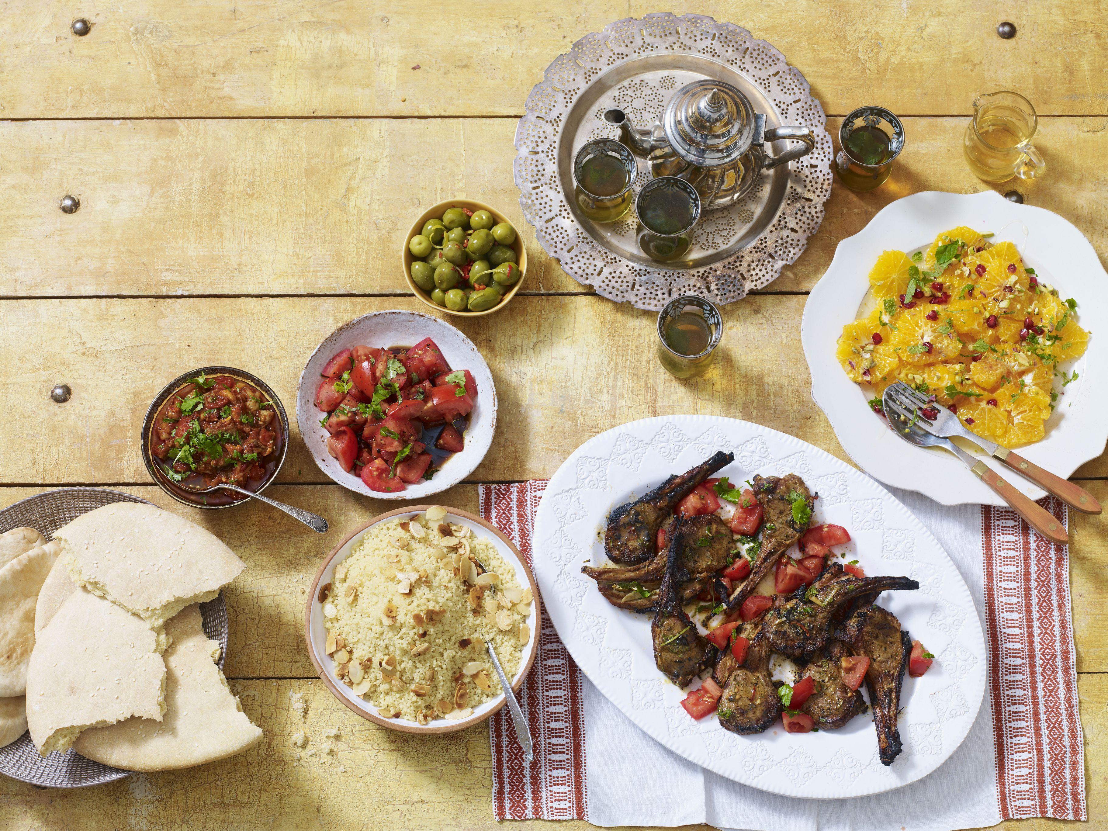 Una cena tradicional marroquí