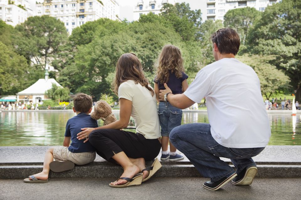 Family in Central Park, New York City