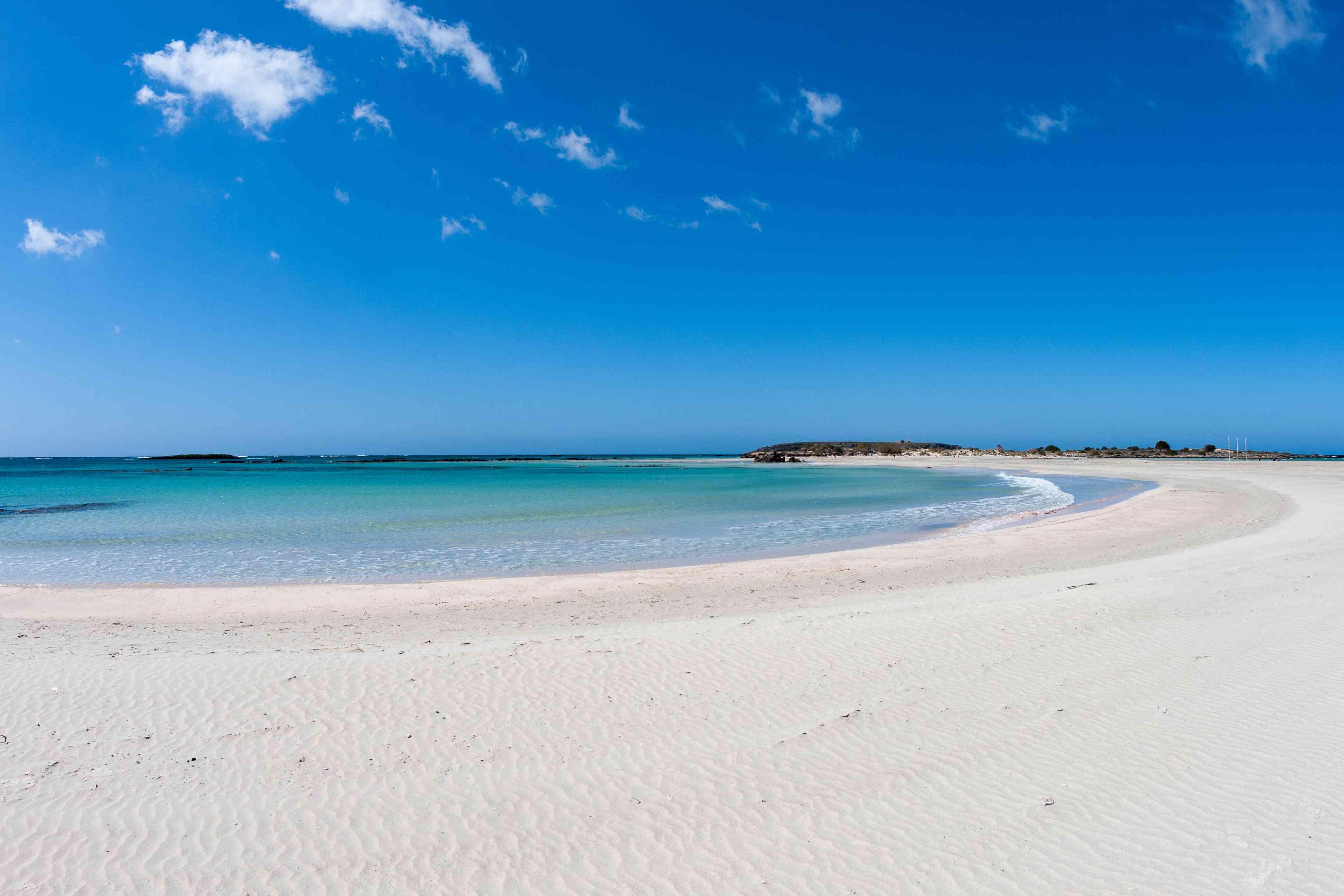 Elafonisi beach in southern Crete, Greece