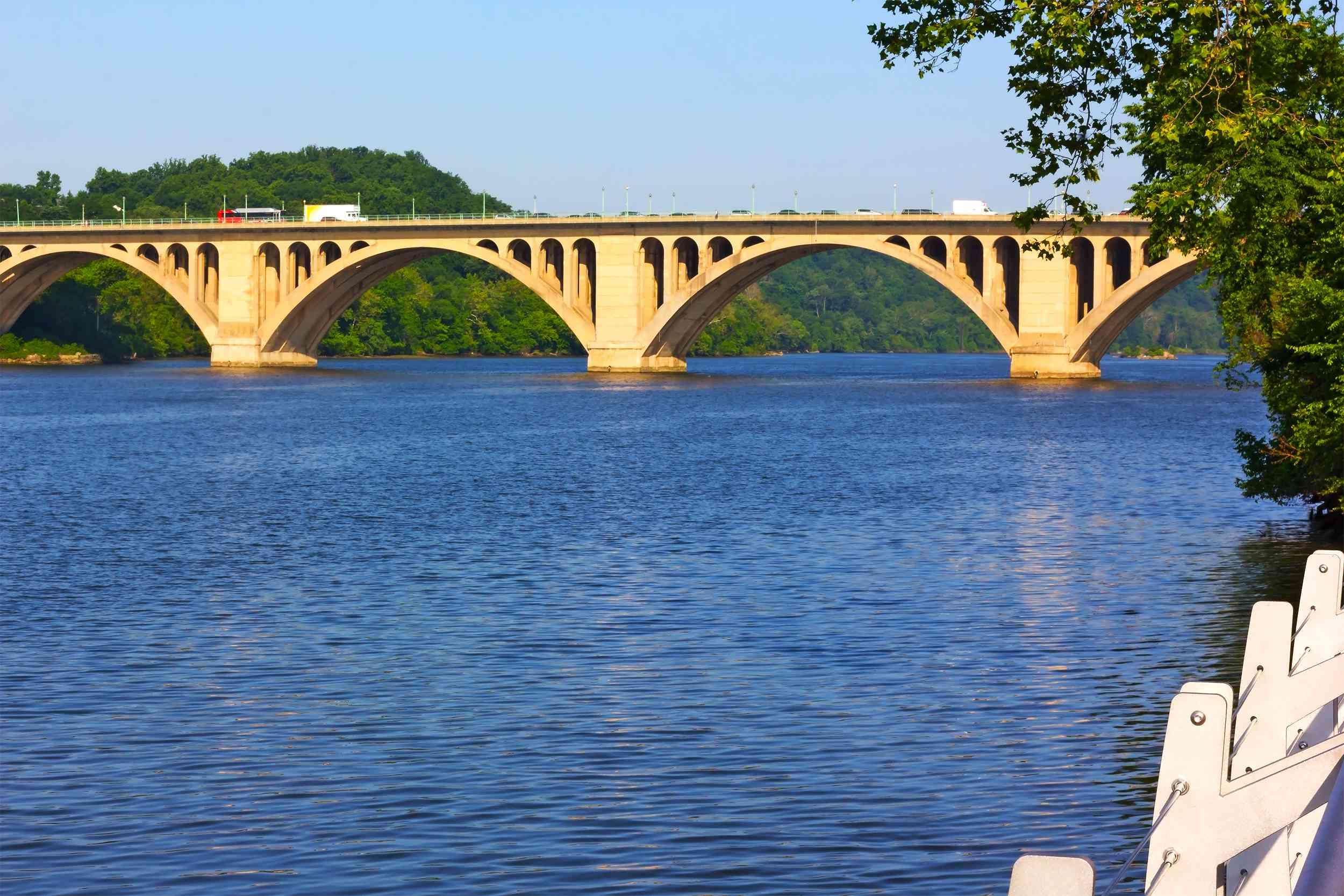 View on Key Bridge and Potomac River.