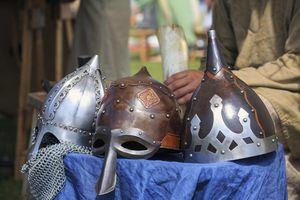 Viking helmets in the Icelandic Festival
