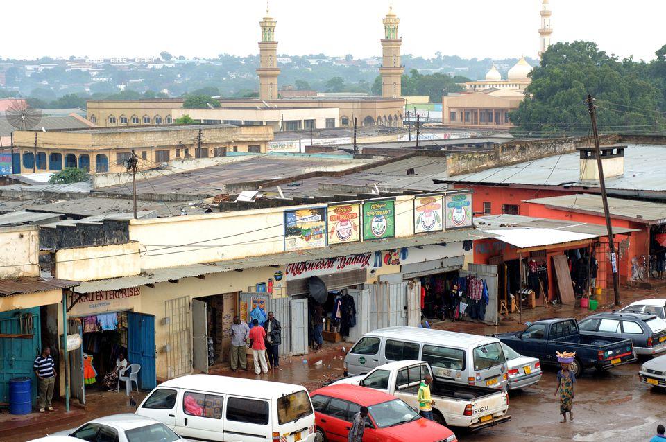 Shopping street in Lilongwe.
