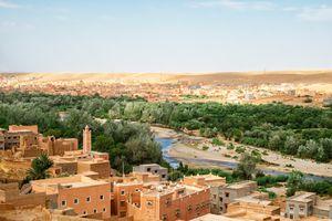 Aerial view of Zagora in southeastern Morocco