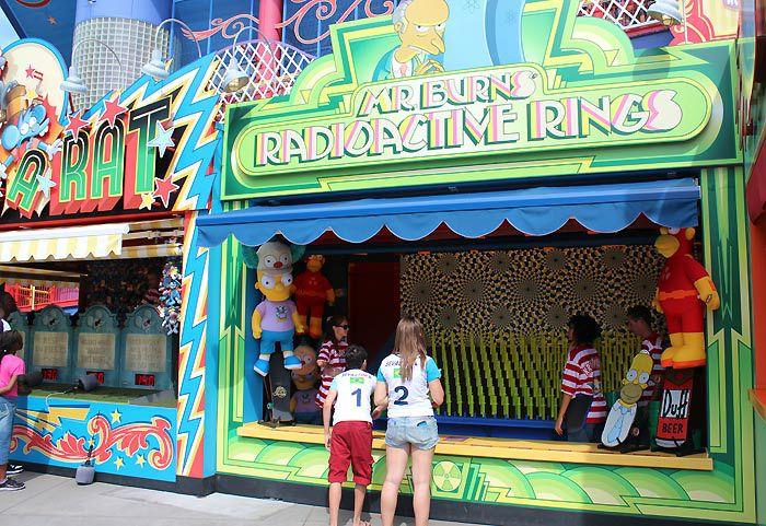 Games at Krustyland in Universal Studios Florida.