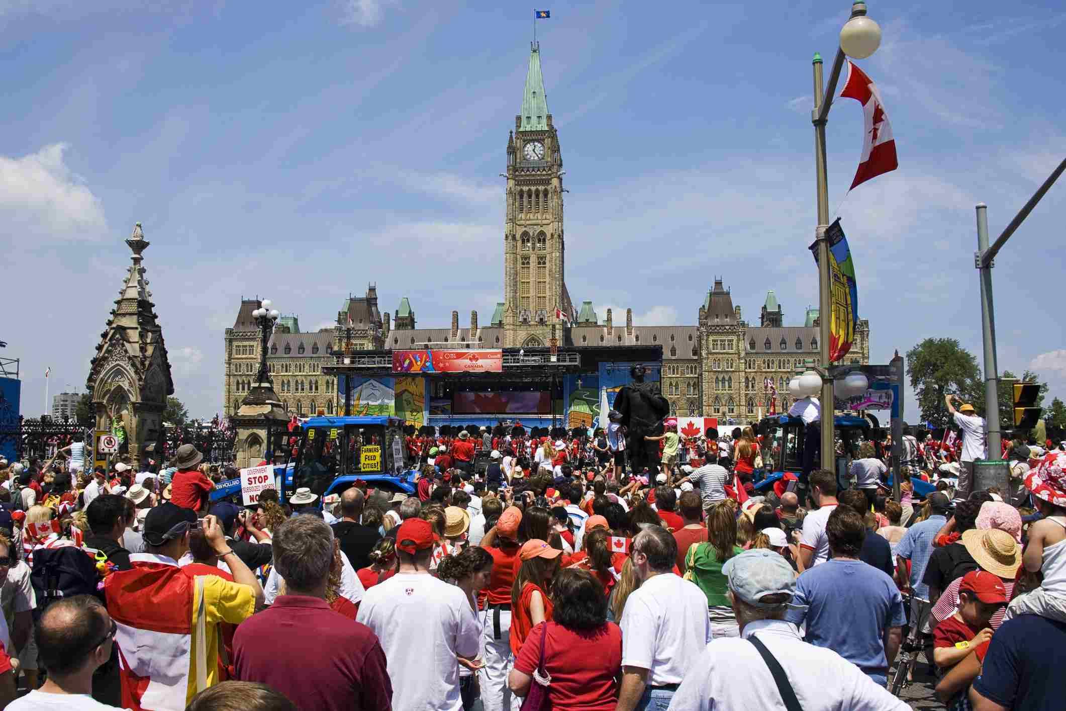 Celebrating Canada Day in Ottawa, Canada