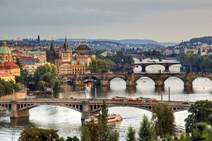 View from Letna to Prague city