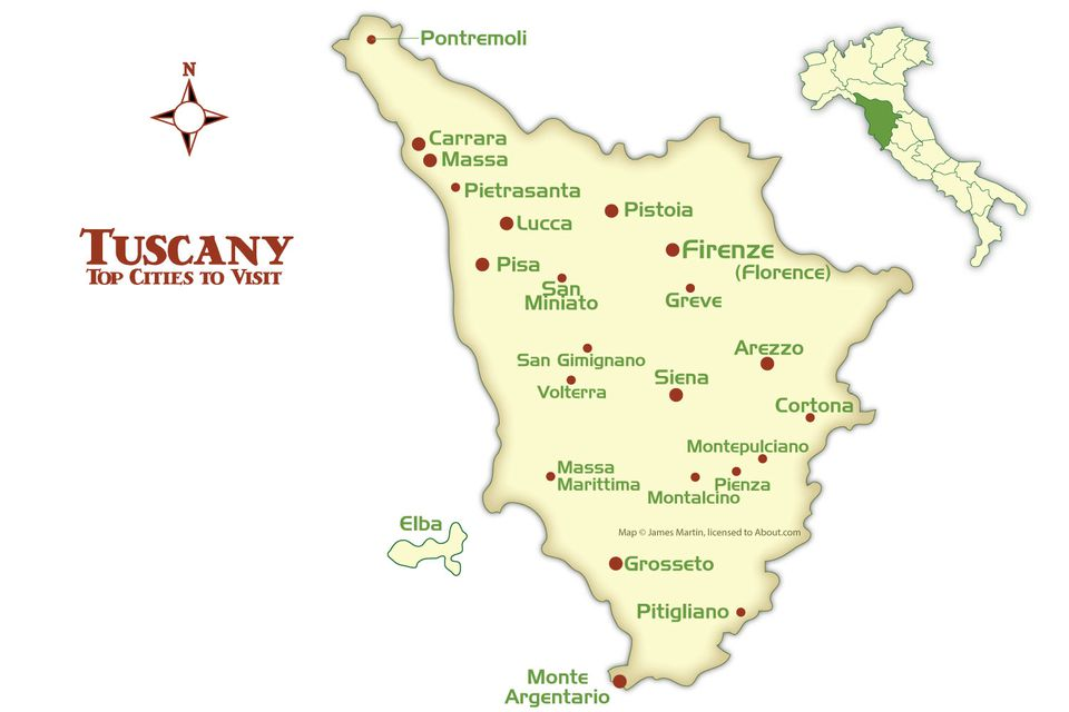 Tuscany Cities Map And Tourism Guide