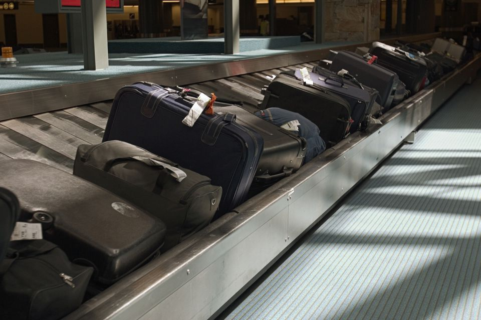 Baggage claim at airport terminal
