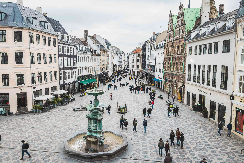 Strøget shopping street in Copenhagen