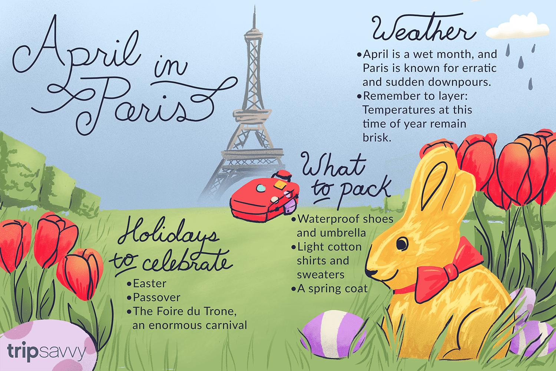 april in paris illustration