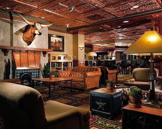 The lobby bar of The Driskill Hotel