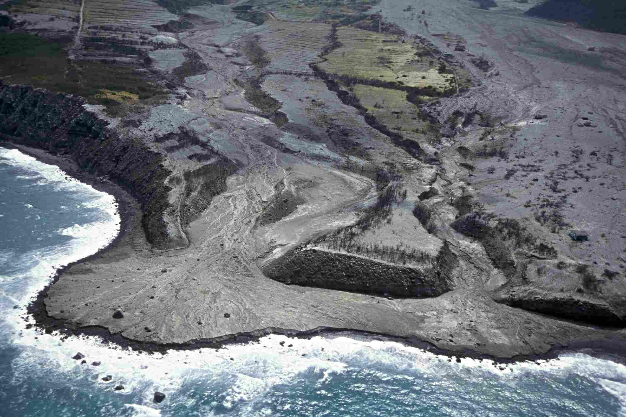 Recent lava flows, Montserrat, West Indies