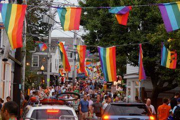 Carnival celebration in Provincetown, Rhode Island.