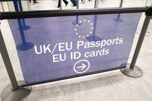 EU and UK Passport Control Signage