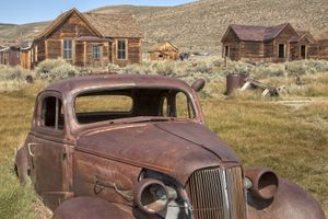 Abandoned Car in Bodie Ghost Town, California