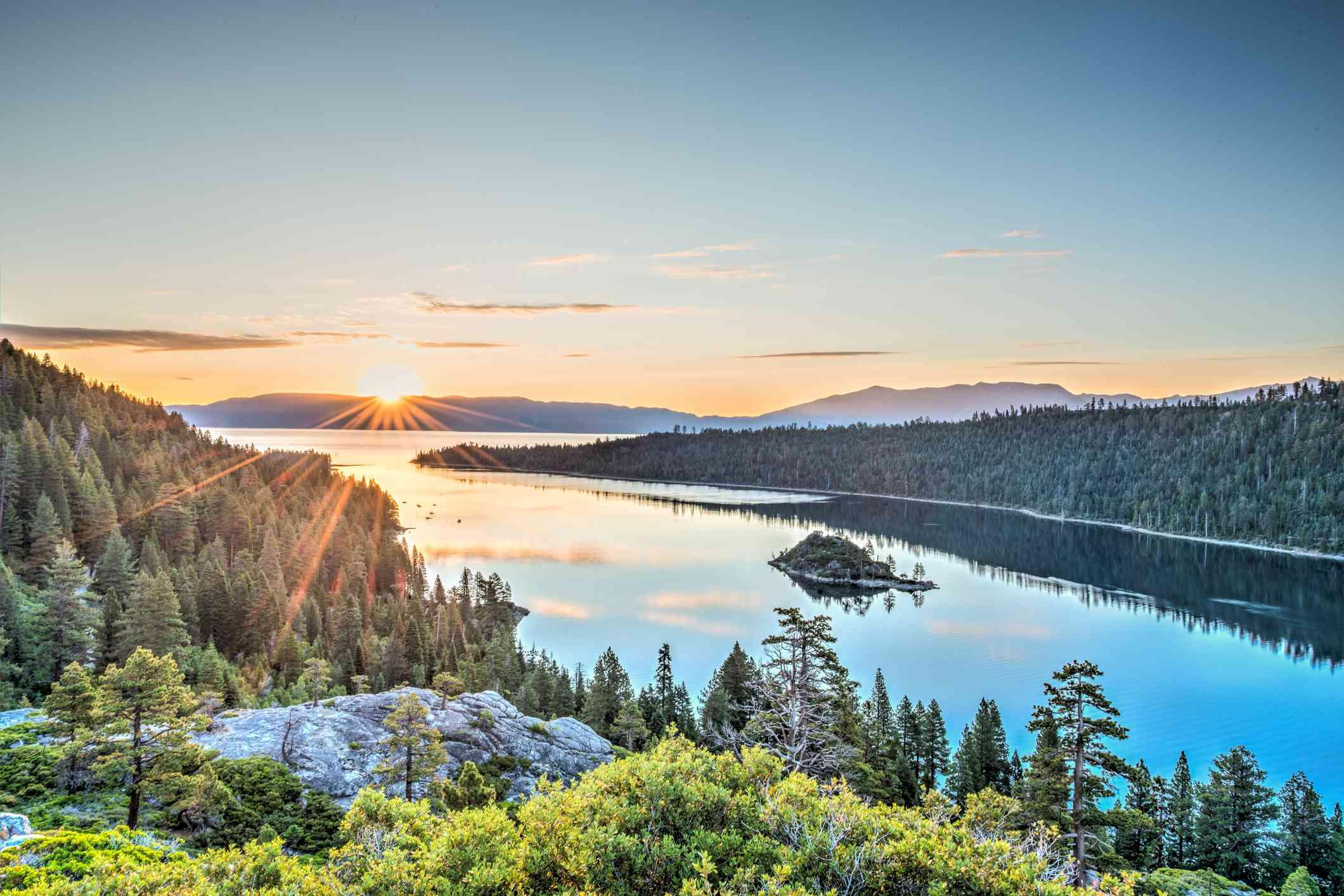 Sunrise over Lake Tahoe Emerald Bay