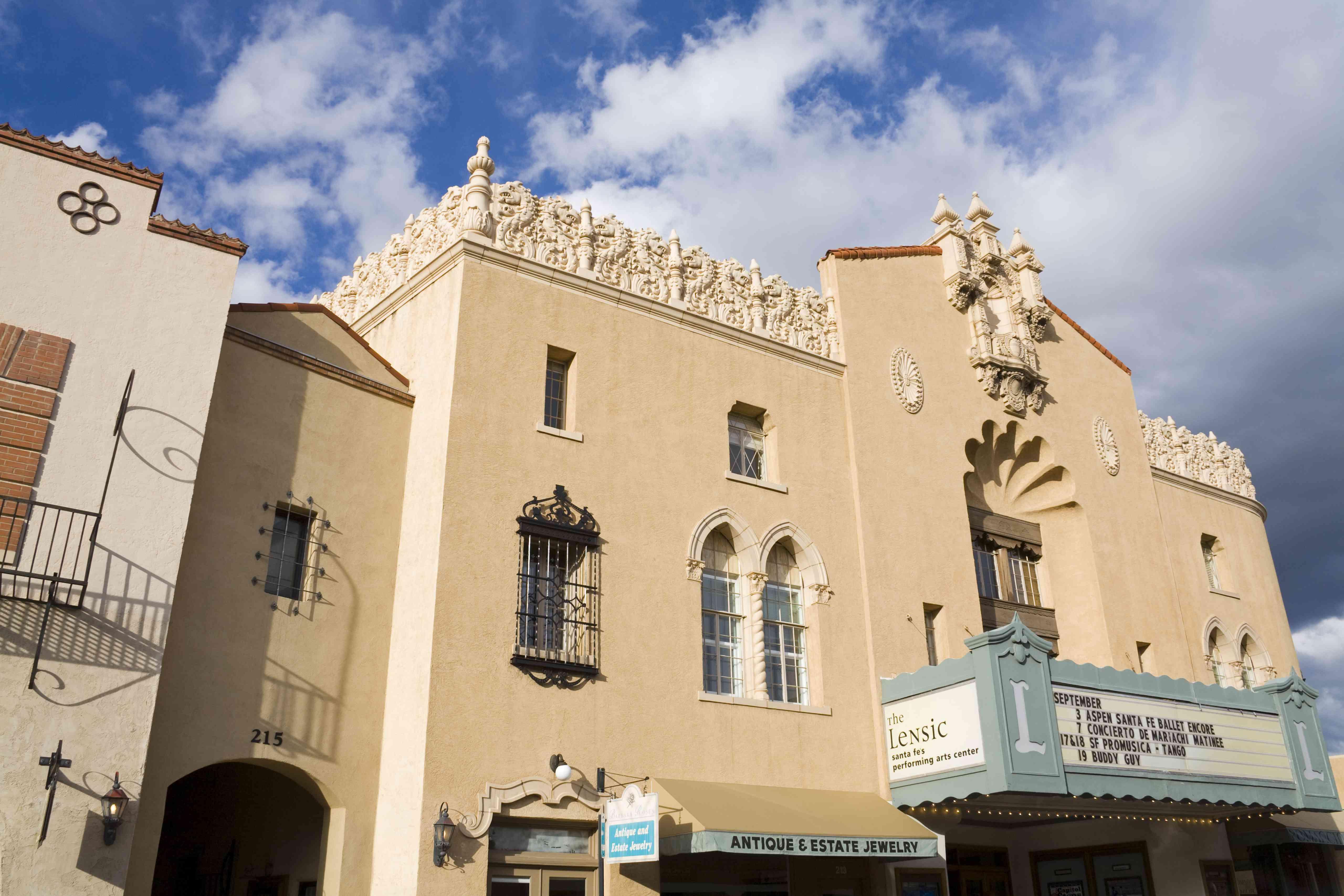 The Lensic Performing Arts Center in Santa Fe