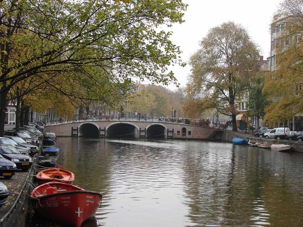 Autumn Canal Scene
