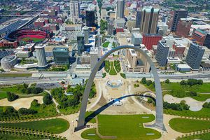 Aerial View of St. Louis Arch