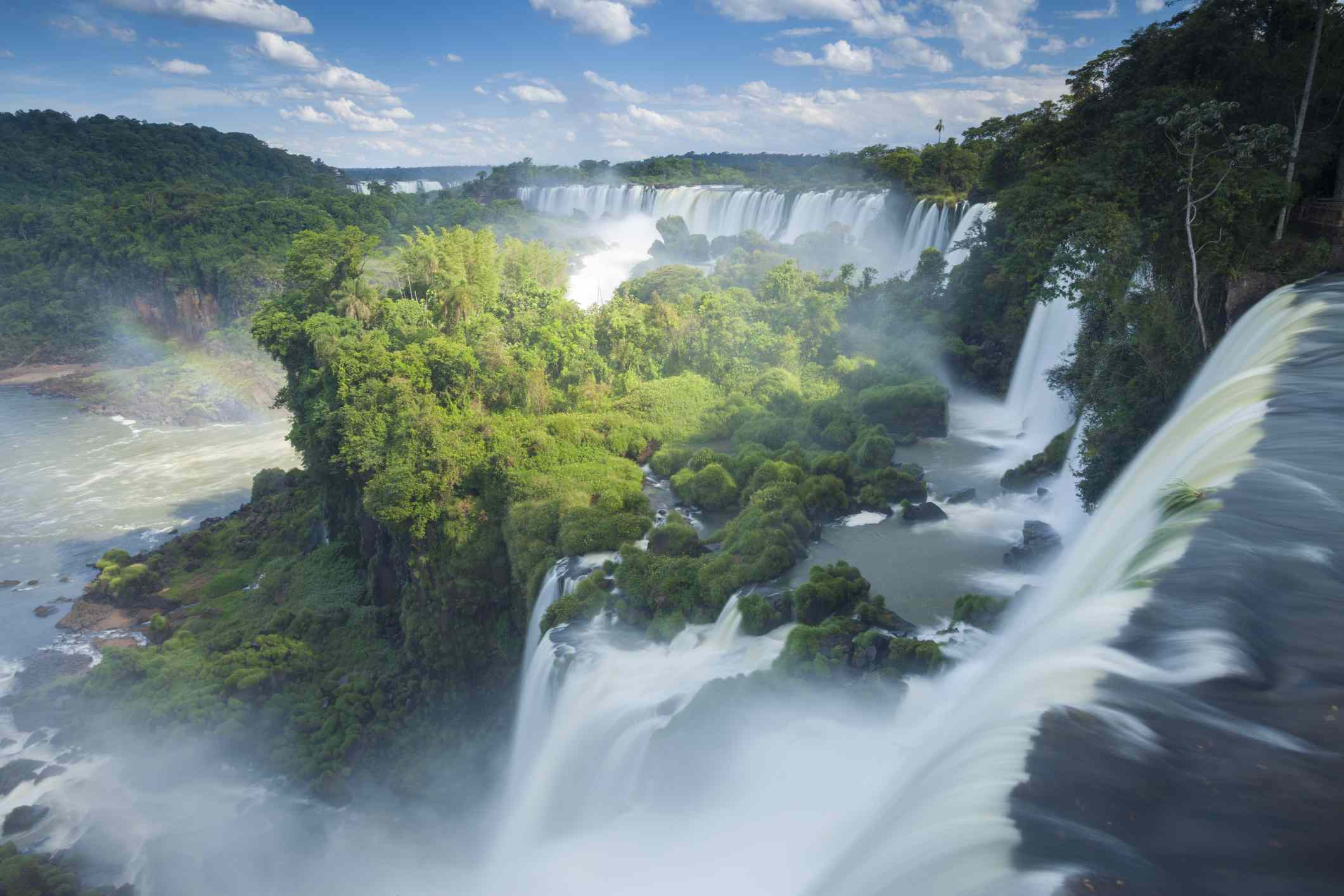 The massive Igauzu Falls that sits on the border of Argentina and Brazil.