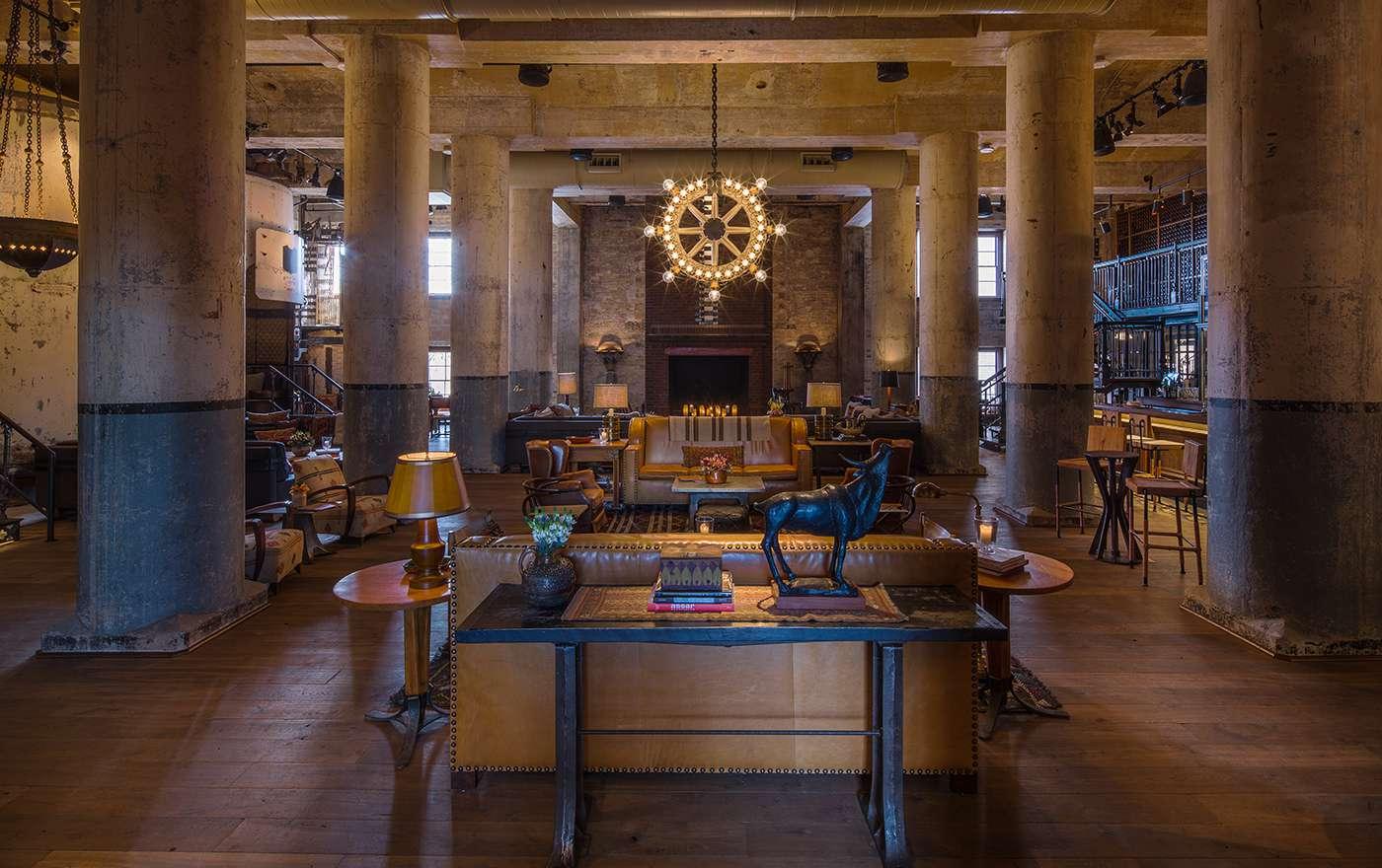 The interior at Hotel Emma