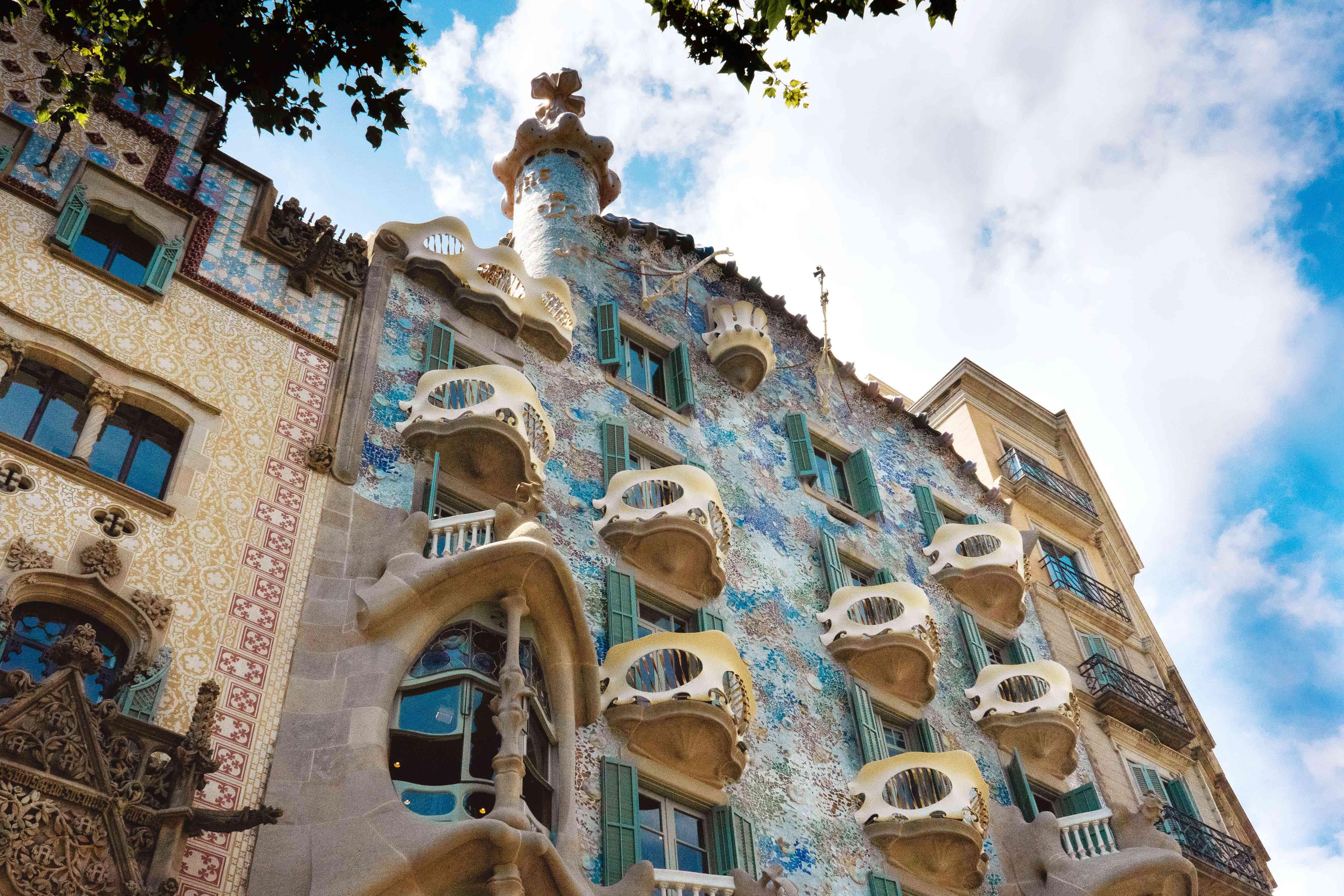 The glittery exterior of Casa Batllo