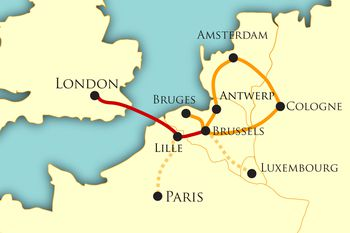 northern european itinerary map