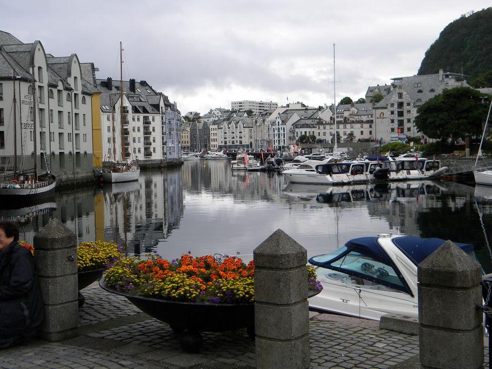 Quiet Harbor in Alesund