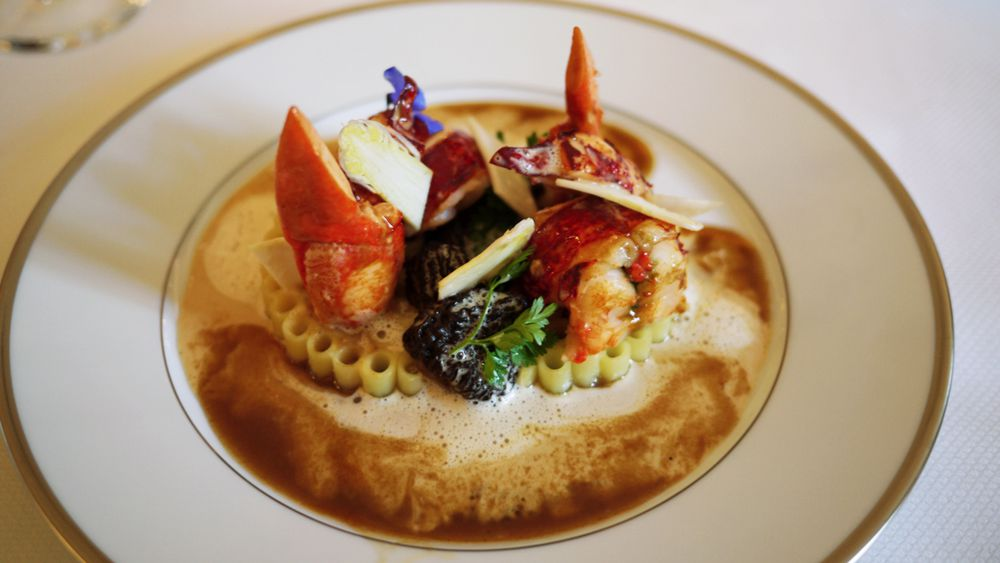 A dish from L'Ambroisie in Paris, helmed by Chef Bernard Pacaud