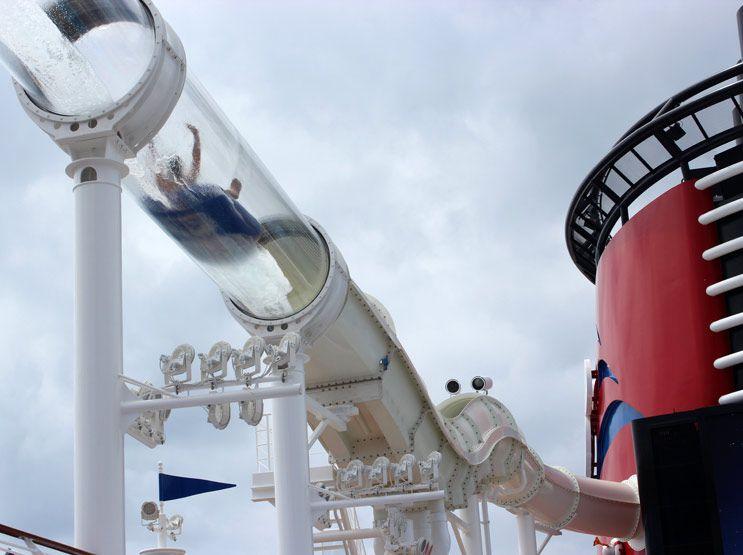 AquaDuck Water Coaster on the Disney Fantasy Cruise Ship