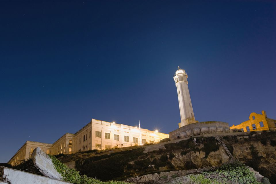 Alcatraz Lighthouse at Dusk