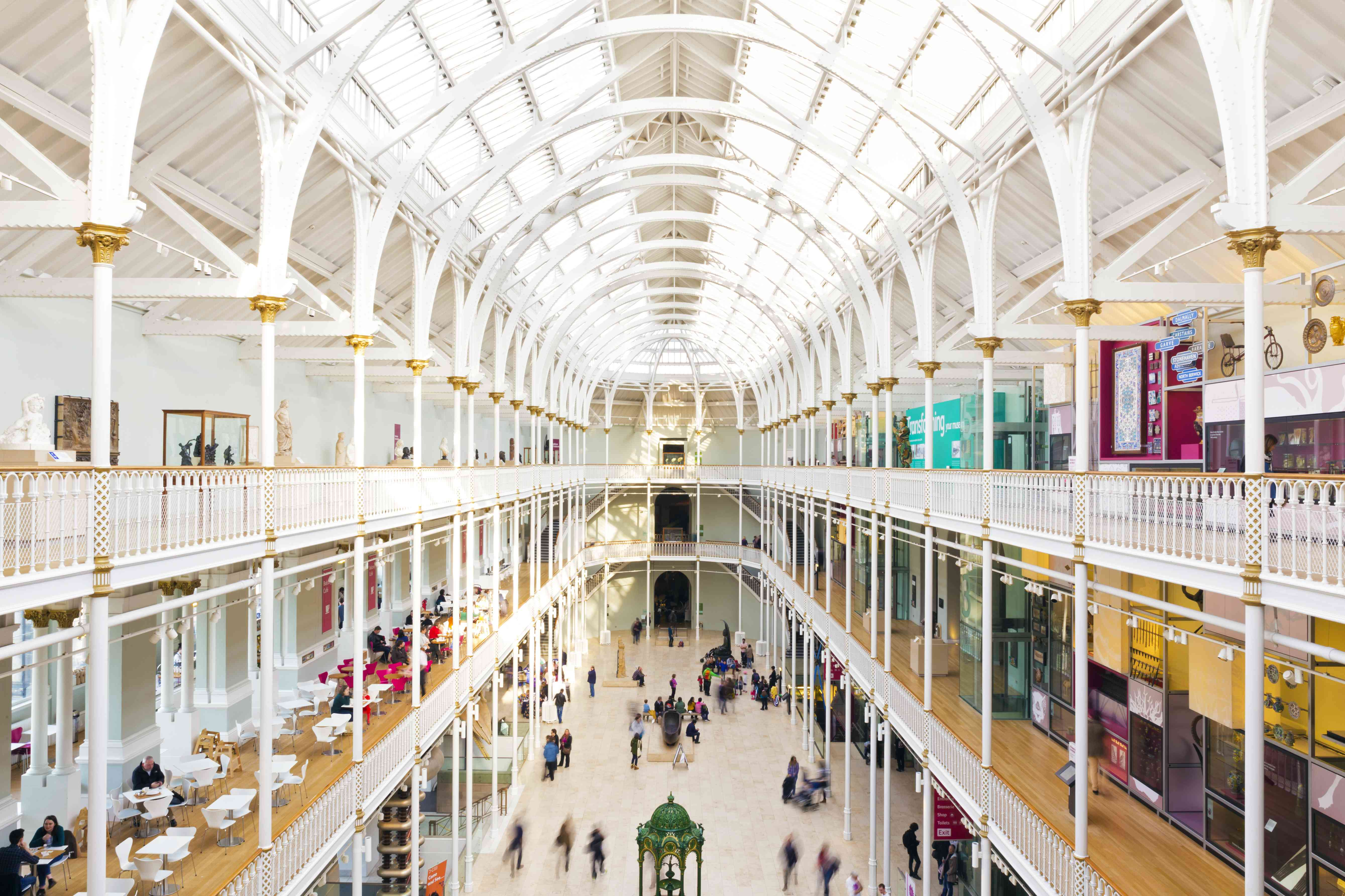 Main gallery at National Museum of Scotland, Edinburgh
