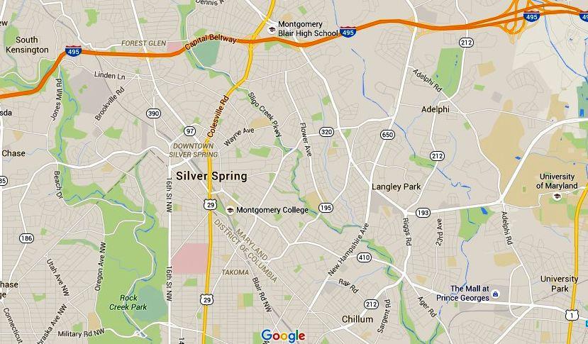 Mapa de Silver Spring