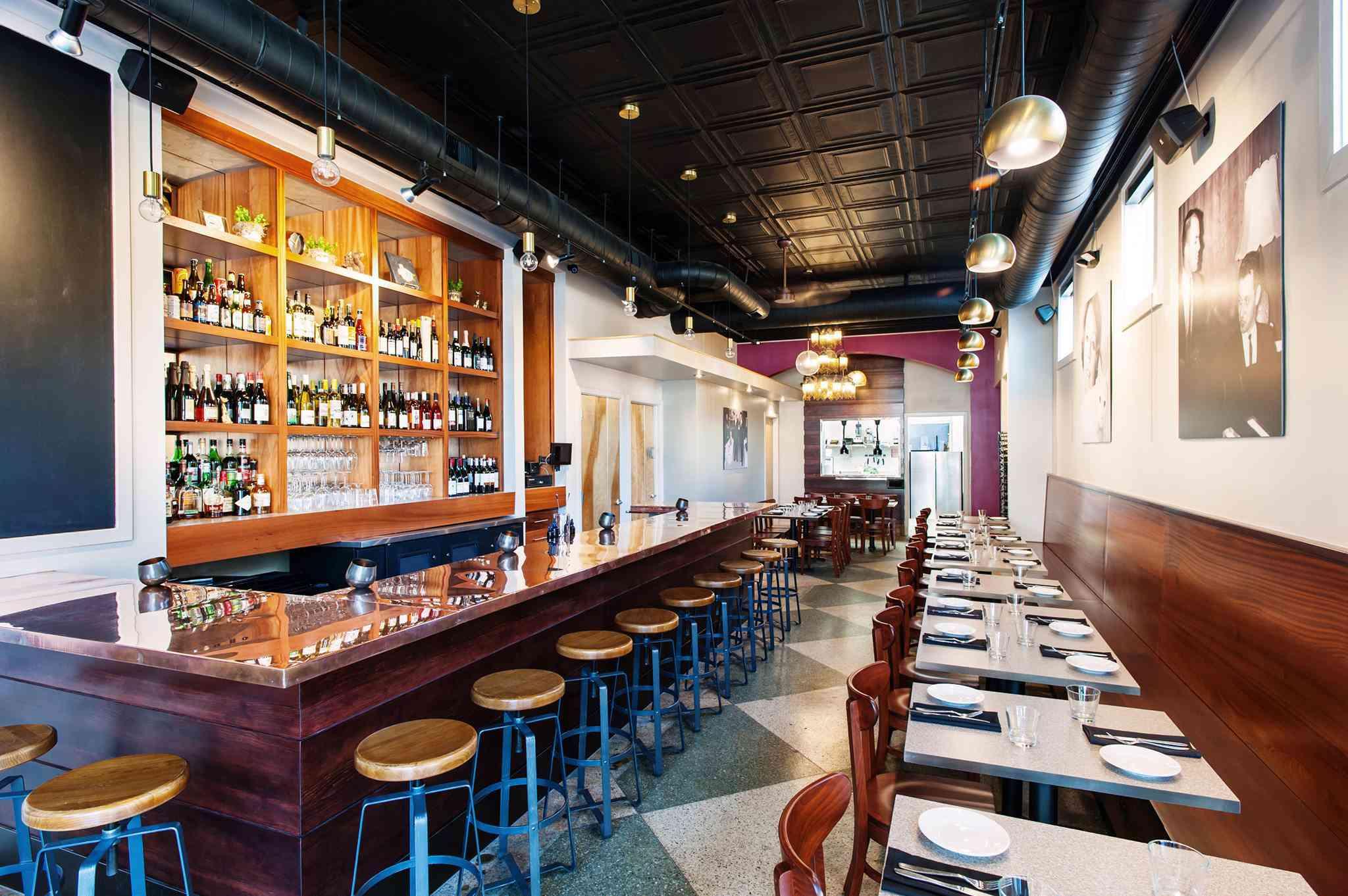Interior of Secco Wine Bar